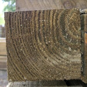 square wooden post