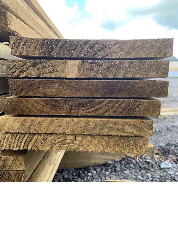 sawn timber gravel board