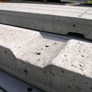 recessed concrete post