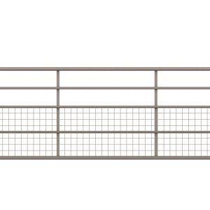 half mesh gate