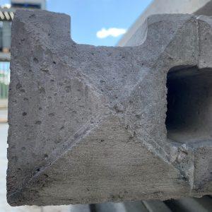 9ft concrete corner post