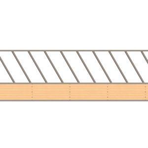 diagonal feed fence