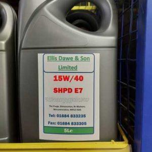 15W40 SHPD E7 5L