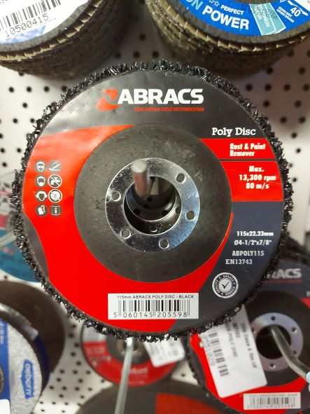 4.5in Abracs Poly Disc #